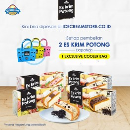 Ice Cream Potong Package Cookies&Cream-Strawberry