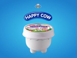 Happy Cow - Cup Strawberry Vanilla