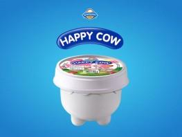 Happy Cow Cup Strawberry Vanilla